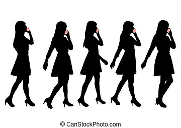 Silhouette der Frau.
