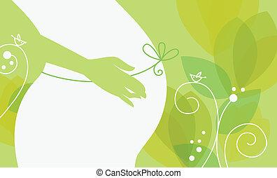Silhouette der schwangeren Frau