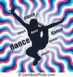 Silhouette der tanzenden Frau