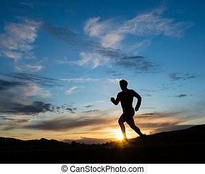 Silhouette des Läufers