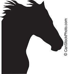 Silhouette des Pferdes