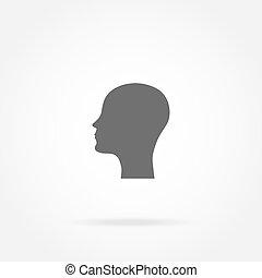 Silhouette einer Kopf-Ikone.