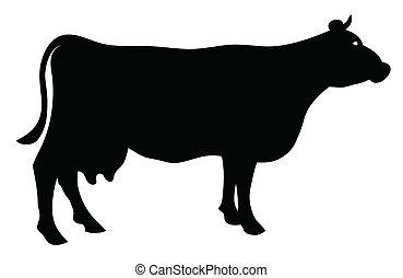 Silhouette einer Kuh.