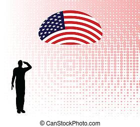 Silhouette eines Soldaten