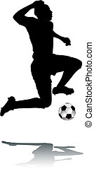 Silhouette Footballer