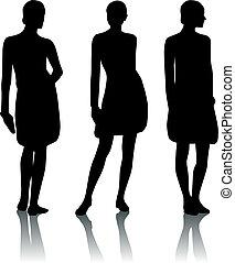 Silhouette-Frau