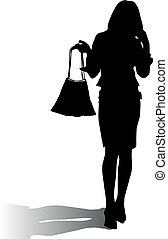Silhouette-Frau Mode