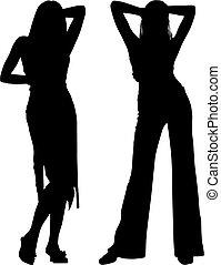 Silhouette-Frauen