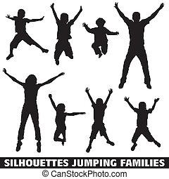 Silhouette, glückliche Familie