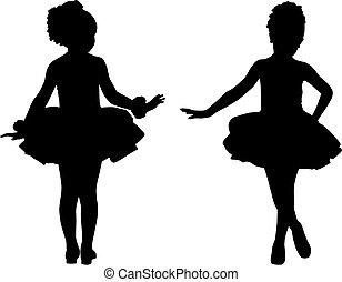 Silhouette kleine Ballerinas