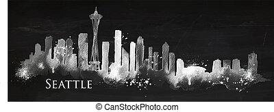 Silhouette Kreide Seattle.