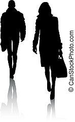 Silhouette-Mädchen