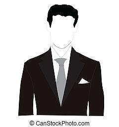Silhouette Männer im schwarzen Anzug