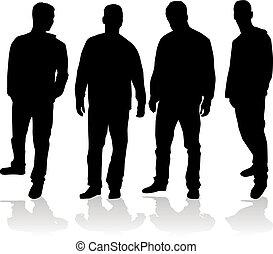 silhouette, mann