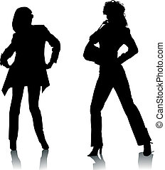 Silhouette Modefrauen