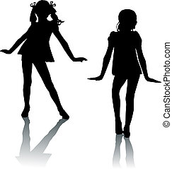 Silhouette Modekinder