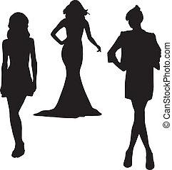 Silhouette Modemädchen.