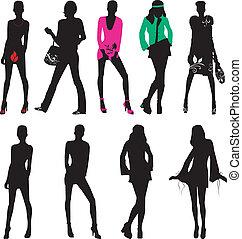 Silhouette Modemädchen