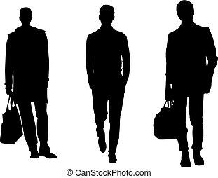 Silhouette Modemänner.