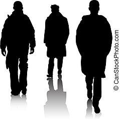 Silhouette Modemänner