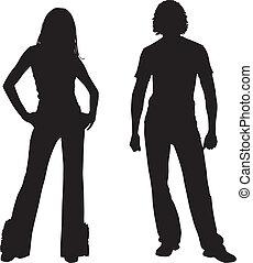 Silhouette Modepaar