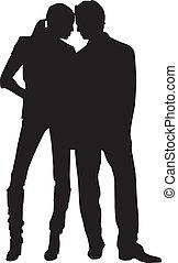 Silhouette-Paar