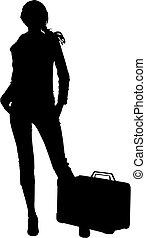 Silhouette Reisefrau