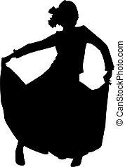 Silhouette-Tänzerin