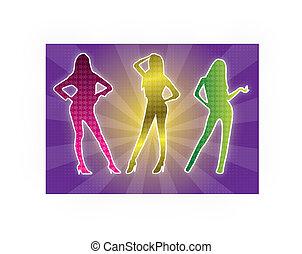 Silhouette tanzt.