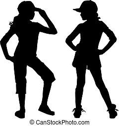 Silhouette Teenager