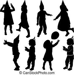 Silhouette von Kindern