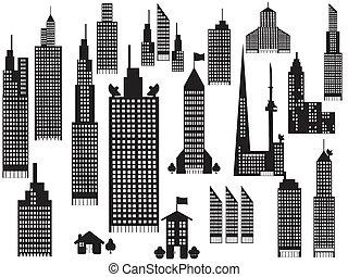 Silhouette von Stadtgebäuden