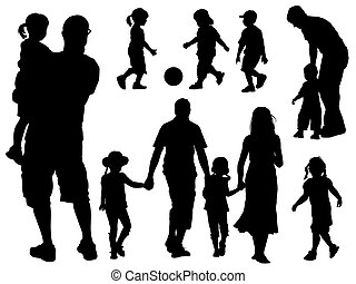 silhouetten, familie