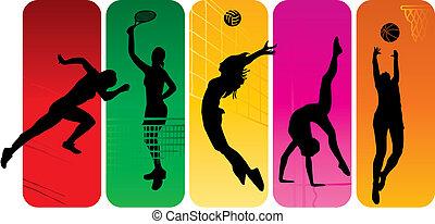 silhouetten, sport