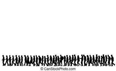 Silhouetten von Leuten, die laufen.