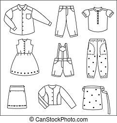 Silhouettes der Kleider