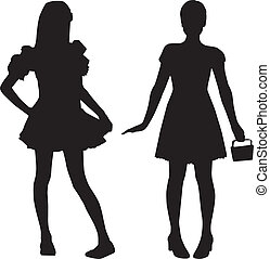 Silhouettes der Teenager