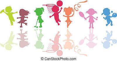 Silhouettes Kindersport