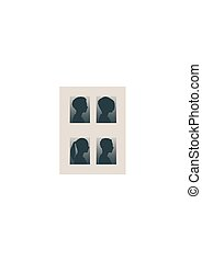 Silhouettes Sammlung eines weiblichen Kopfes