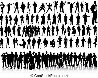 Silhouettes von Menschen