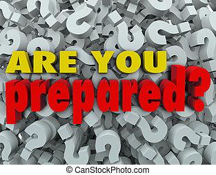 Sind Sie bereit, die Frage nach der Bewertung vorzubereiten