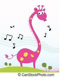 Singende Giraffe