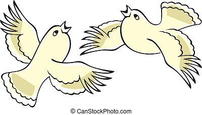 Singende Vögel.
