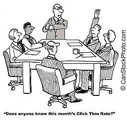 Site click thru rate.