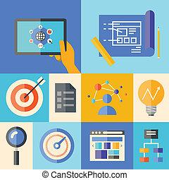 Site Development Illustration Konzept