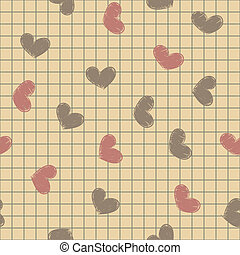 Sitzlos mit farbigen gemalten Herzen auf einem Notizbuch.