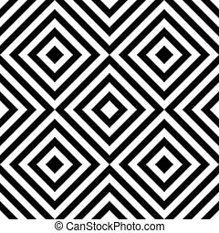 Sitzloses Quadrat und Streifenmuster
