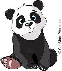 Sitzt süßer Panda
