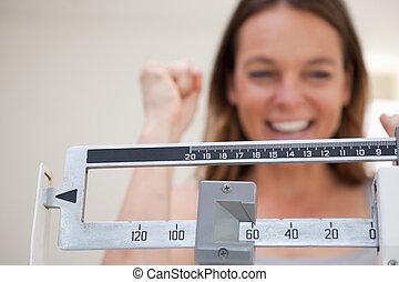 Skalp zeigt Gewichtsverlust.