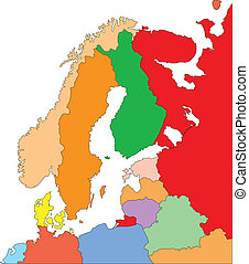 Skandinavien mit redaktionellen Ländern